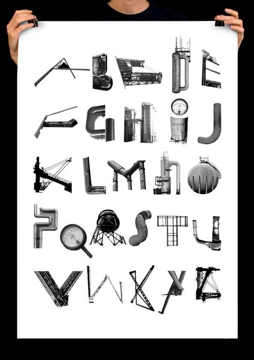 Kalle Hagman, индустриальный шрифт