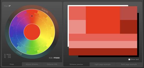Цветовые схемы и палитры