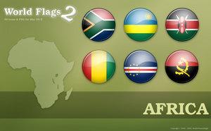 Флаги африканских стран png