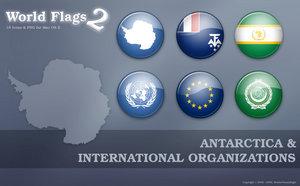 Флаги стран Антарктики png