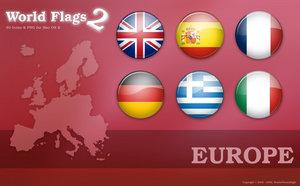 Флаги стран Европы png
