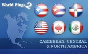 Флаги стран Северной Америки png