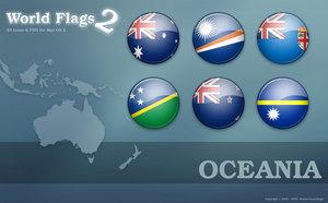 Флаги стран Океании png