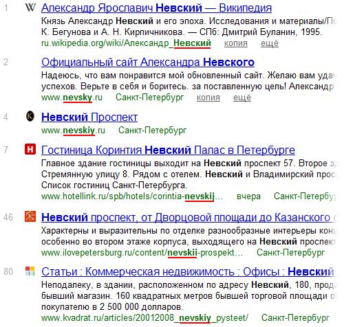 Яндекс понимает кириллицу и всевозможный транслит в URL`ах (не только в доменах)