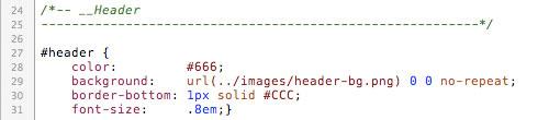 Оформление структуры CSS файла
