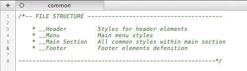 Оглавление CSS файлов