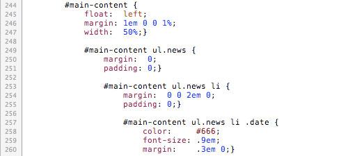 Вложенные стили CSS