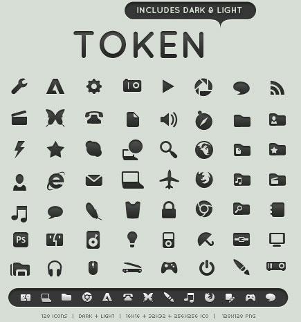 Набор иконок «Токен»
