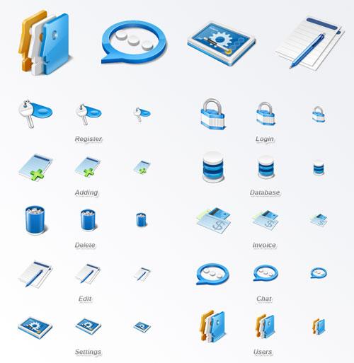 Бесплатный набор иконок Application icon set