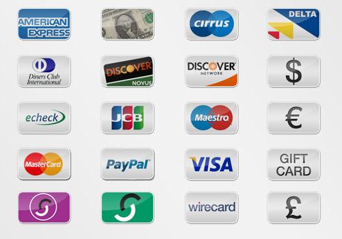 Иконки различных вариантов оплаты