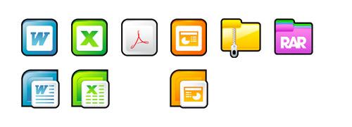 Иконки документов Sleek XP