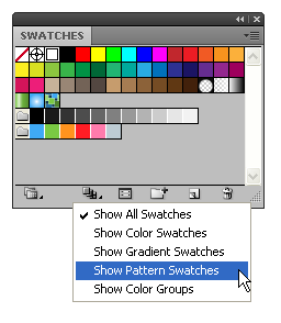 Палитра Swatches в Иллюстраторе