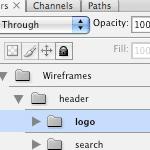 Как все грамотно распихать по слоям в Photoshop, рисуя сайт