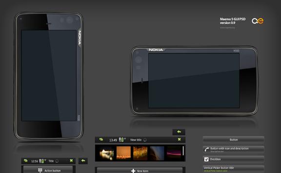 Maemo 5 GUI Template PSD
