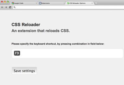 Google Chrome CSS Reloader