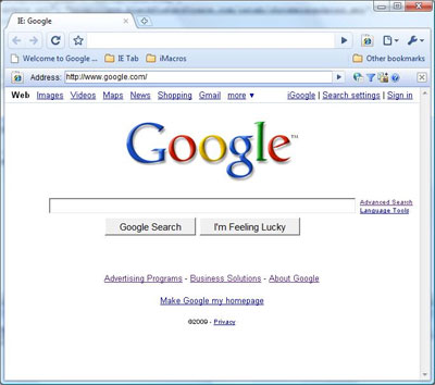 Google Chrome IE Tab