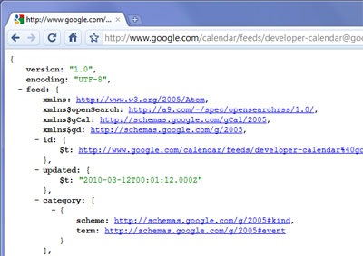 Google Chrome JSONView