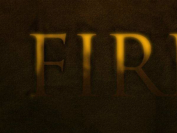 Огненный текст photoshop