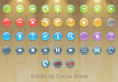 иконки для тулбаров, knob icons